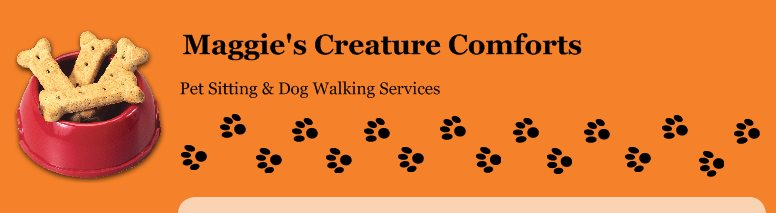 Maggie's Creature Comforts - Pet Sitting & Dog Walking Services
